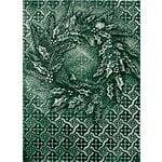 Spellbinders - M-Bossabilities Collection - Christmas - Embossing Folders - Rustic Wreath