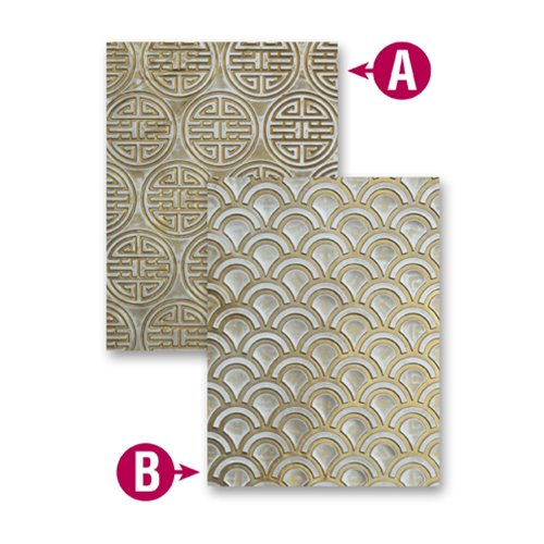 Spellbinders - M-Bossabilities Collection - Embossing Folders - Asian