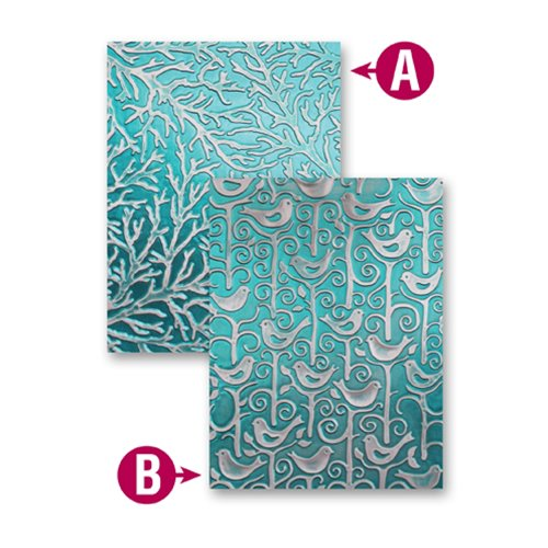 Spellbinders - M-Bossabilities Collection - Embossing Folders - Tweets And Twigs