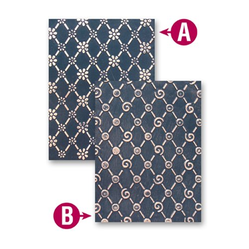 Spellbinders - M-Bossabilities Collection - Embossing Folders - Lovely Lattice