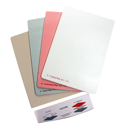 Spellbinders - Grand Calibur Replacement Plate Set with Tray - 8.5 x 12.25