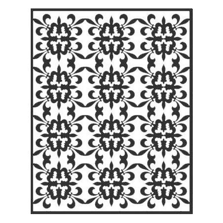 Spellbinders - Impressabilities Collection - Embossing Templates - Fleur de Lis Pattern