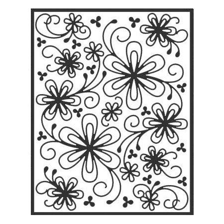 Spellbinders - Impressabilities Collection - Embossing Templates - Flower Silhouette