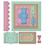 Spellbinders - Donna Salazar - Grand Shapeabilities Collection - Die Cutting and Embossing Templates - Creative Pages Two