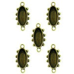 Spellbinders - Media Mixage Collection - Bezels - Ovals One - Bronze - 5pk