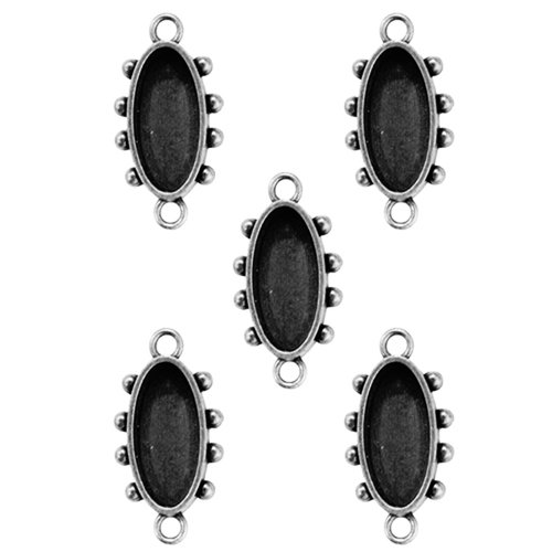 Spellbinders - Media Mixage Collection - Bezels - Ovals One - Silver - 5pk