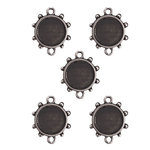 Spellbinders - Media Mixage Collection - Bezels - Circles Three - Silver - 5pk