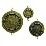 Spellbinders - Media Mixage Collection - Bezels - Circles One - Bronze