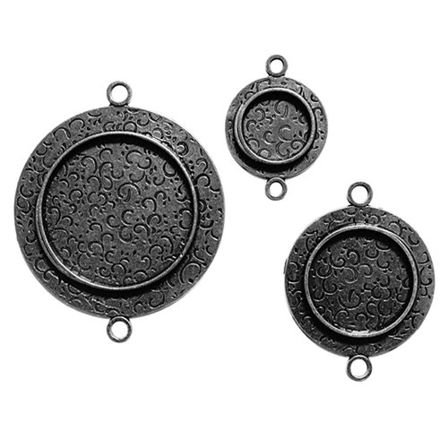 Spellbinders - Media Mixage Collection - Bezels - Circles One - Silver