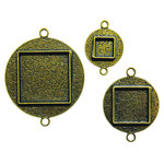 Spellbinders - Media Mixage Collection - Bezels - Circles Two - Bronze