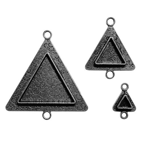 Spellbinders - Media Mixage Collection - Bezels - Triangles Two - Silver