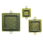 Spellbinders - Media Mixage Collection - Bezels - Squares Two - Bronze