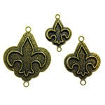 Spellbinders - Media Mixage Collection - Bezels - Fleur de Lis - Bronze