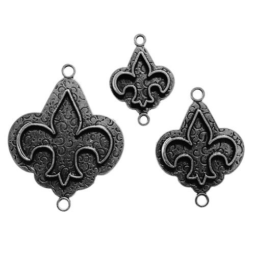Spellbinders - Media Mixage Collection - Bezels - Fleur de Lis - Silver