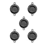 Spellbinders - Media Mixage Collection - Bezels - Circles One - Silver - 5pk