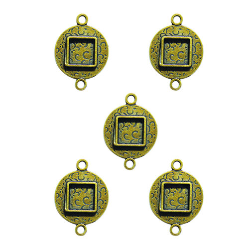 Spellbinders - Media Mixage Collection - Bezels - Circles Two - Bronze - 5pk