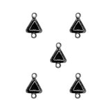 Spellbinders - Media Mixage Collection - Bezels - Triangles Two - Silver - 5pk