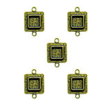 Spellbinders - Media Mixage Collection - Bezels - Squares Two - Bronze - 5pk