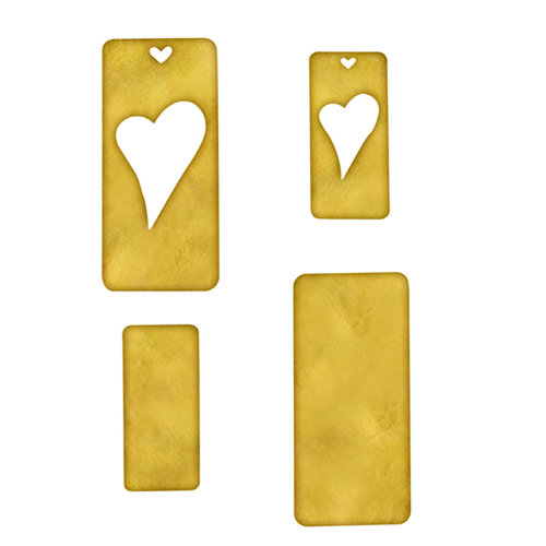 Spellbinders - Media Mixage Collection - Metal Blanks - Hearts Three