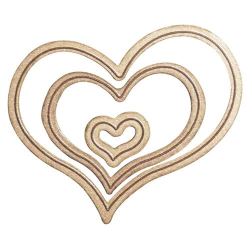 Spellbinders - Media Mixage Collection - Bezel Dies - Die Cutting and Embossing Template - Hearts One