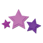 Spellbinders - Presto Punch - Die Cutting and Embossing Template - Stars