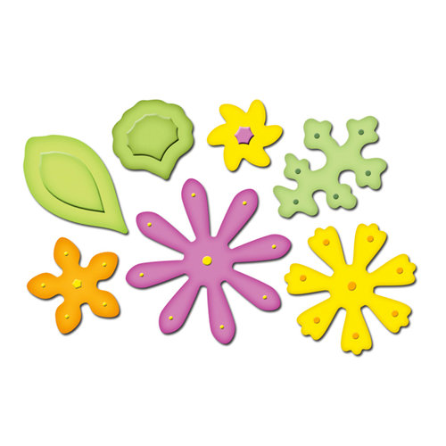 Spellbinders - Presto Punch - Die Cutting and Embossing Template - Petal Pack