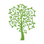 Spellbinders - Shapeabilities Collection -  D-Lites - Die Cutting and Embossing Template - Whimsical Tree