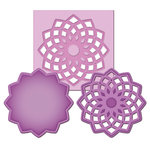 Spellbinders - Shapeabilities Collection -  D-Lites - Die Cutting and Embossing Template - Medallion Three