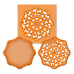 Spellbinders - Shapeabilities Collection -  D-Lites - Die Cutting and Embossing Template - Medallion Five
