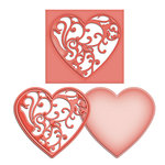 Spellbinders - Shapeabilities Collection - D-Lites - Die Cutting and Embossing Template - Vines of Passion