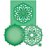 Spellbinders - Shapeabilities Collection - D-Lites - Die Cutting and Embossing Template - Medallion Eight