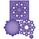 Spellbinders - Shapeabilities Collection - D-Lites - Die Cutting and Embossing Template - Medallion Seven