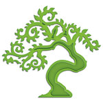 Spellbinders - Shapeabilities Collection - D-Lites - Die Cutting and Embossing Template - Bonsai Tree