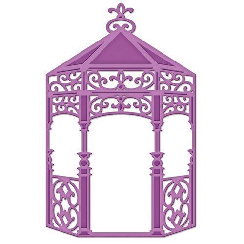 Spellbinders - Shapeabilities Collection - D-Lites - Die Cutting and Embossing Template - Gazebo
