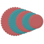 Spellbinders - Nestabilities Collection - Die Cutting and Embossing Templates - Scalloped Circles, CLEARANCE