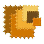 Spellbinders - Nestabilities Collection - Die Cutting and Embossing Templates - Large Classic Inverted Scalloped Square, CLEARANCE