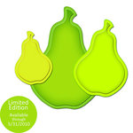 Spellbinders - Shapeabiltities Collection - Die Cutting and Embossing Templates - Nested Pears, CLEARANCE