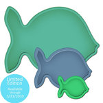 Spellbinders - Shapeabiltities Collection - Die Cutting and Embossing Templates - Nested Fish, CLEARANCE