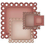 Spellbinders - Nestabilities Collection - Die Cutting and Embossing Templates - Eyelet Squares