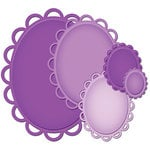 Spellbinders - Nestabilities Collection - Die Cutting and Embossing Templates - Lacey Ovals