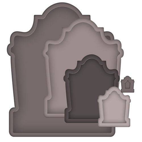 Spellbinders - Nestabilities Collection - Halloween - Die Cutting and Embossing Templates - Nested Tombstones