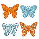 Spellbinders - Shapeabilities Collection - Die Cutting and Embossing Templates - Les Papillions