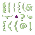 Spellbinders - Shapeabilities Collection - Becky Fleck - Die Cutting and Embossing Templates - Keyboard Icons