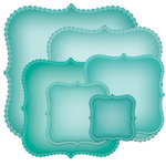 Spellbinders - Nestabilities Collection - Becky Fleck - Die Cutting and Embossing Templates - Scalloped Labels One