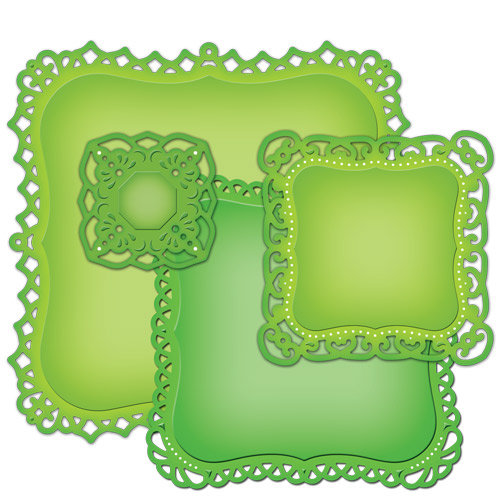 Spellbinders - Nestabilities Collection - Die Cutting and Embossing Templates - Decorative Labels One