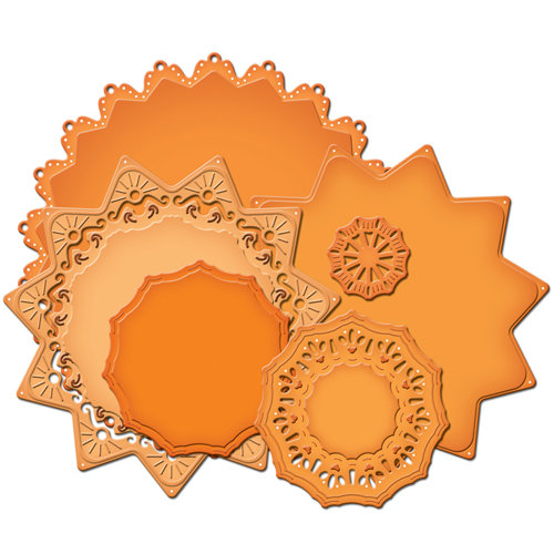 Spellbinders - Nestabilities Collection - Die Cutting and Embossing Templates - Majestic Elements - Exquisite Circles