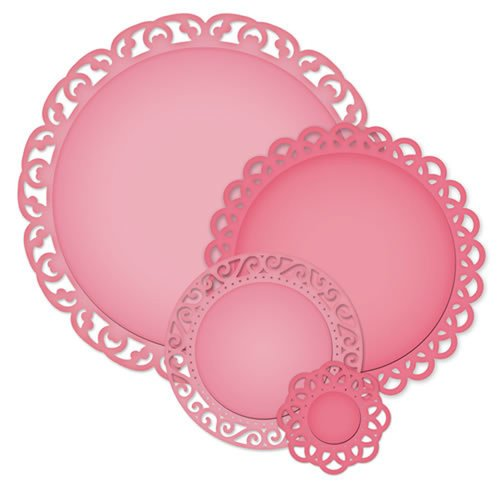Spellbinders - Nestabilities Collection - Die Cutting and Embossing Templates - Stately Circles