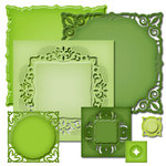 Spellbinders - Nestabilities Collection - Die Cutting and Embossing Templates - Adorning Squares