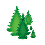 Spellbinders - Nestabilities Collection - Die Cutting and Embossing Templates - 2013 Holiday Trees