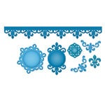 Spellbinders - Shapeabilities Collection - Die Cutting and Embossing Templates - Fleur de Lis Doily Accents